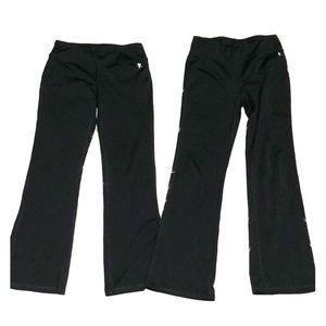Bundle 2 pair yoga pants girls 10/12 black stretch